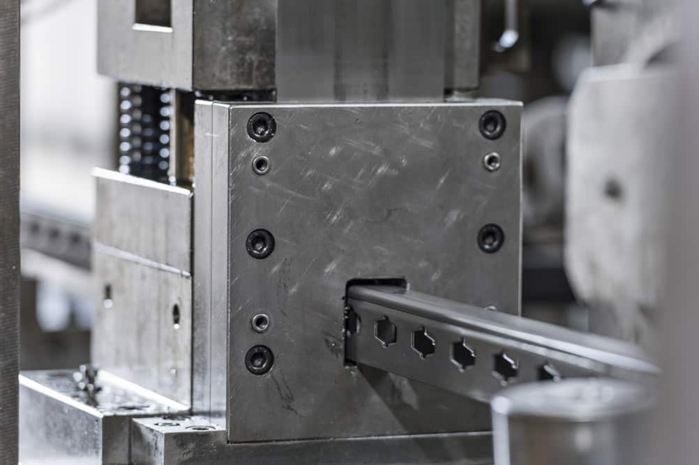 Production of  industrial shelving