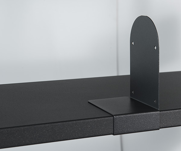 Double-sided  metal shelving